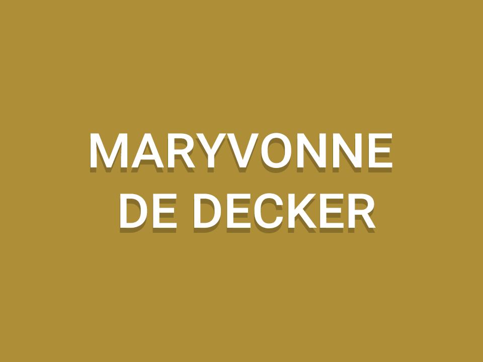 Maryvonne De Decker